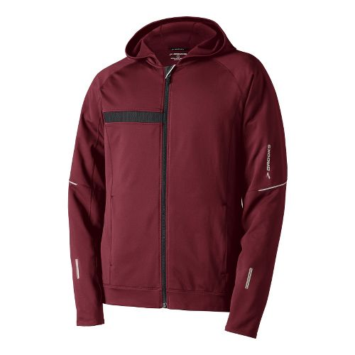 Mens Brooks Utopia Thermal Hooded Outerwear Jackets - Matador S