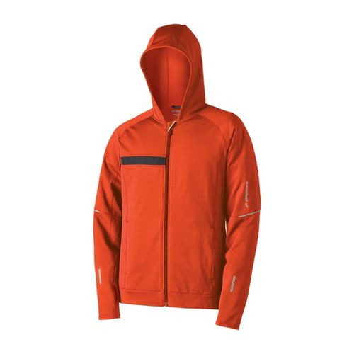 Mens Brooks Utopia Thermal Hooded Outerwear Jackets - Torch S