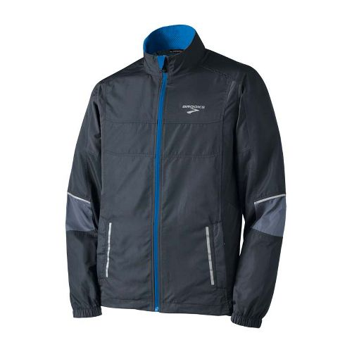 Mens Brooks Essential Run II Outerwear Jackets - Anthracite/Flint S