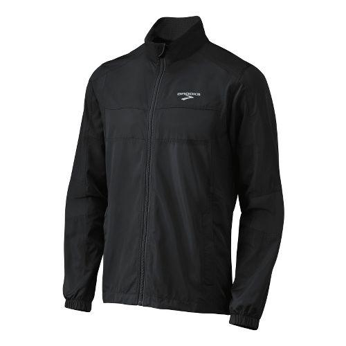 Mens Brooks Essential Run II Outerwear Jackets - Black L
