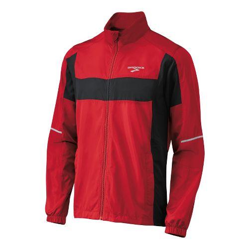 Mens Brooks Essential Run II Outerwear Jackets - Plasma/Black L