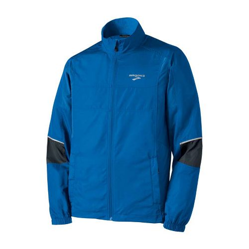 Mens Brooks Essential Run II Outerwear Jackets - Skydiver/Anthracite XL
