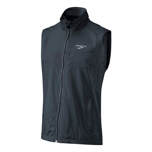 Mens Brooks Essential Run II Outerwear Vests - Anthracite S