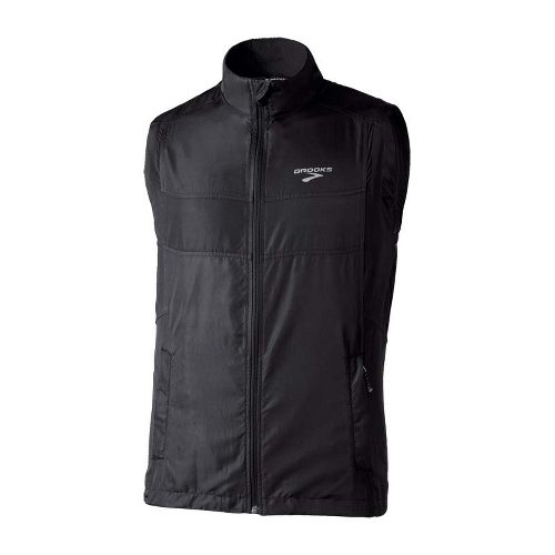 Mens Brooks Essential Run II Outerwear Vests - Black S