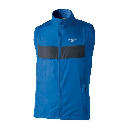 Mens Brooks Essential Run II Outerwear Vests - Skydiver/Anthracite S