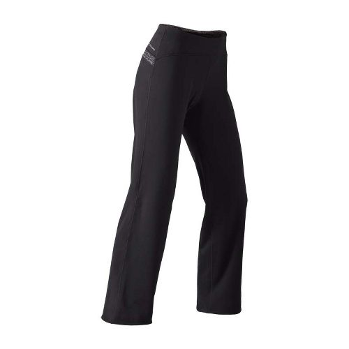 Womens Brooks Utopia Thermal Cozy Tall Pant Cold weather Pants - Black/Heather Black L