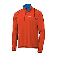 Mens Brooks Infiniti Hybrid Wind Shirt Long Sleeve 1/2 Zip Technical Tops