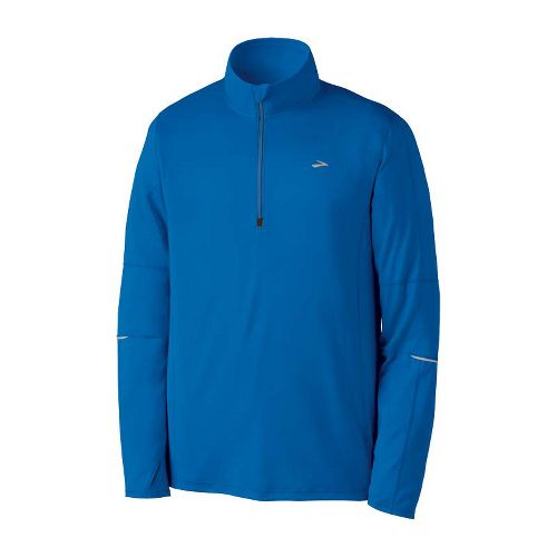 Mens Brooks Essential Run Long Sleeve 1/2 Zip Technical Tops - Skydiver L