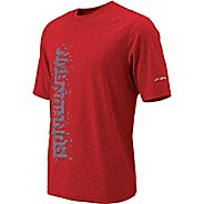 Mens Brooks EZ T II Run Run Run Short Sleeve Technical Tops