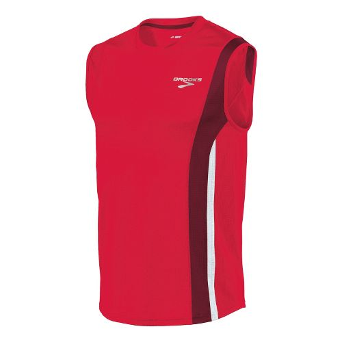 Mens Brooks Rev II Sleeveless Technical Tops - Plasma/Matador XXL