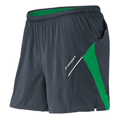 Mens Brooks Sherpa 4.5 inch 2-in-1 Shorts - Anthracite/Envy S