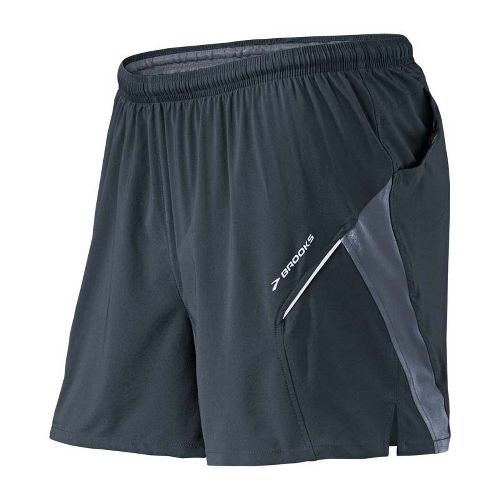 Mens Brooks Sherpa 4.5 inch 2-in-1 Shorts - Anthracite/Flint L