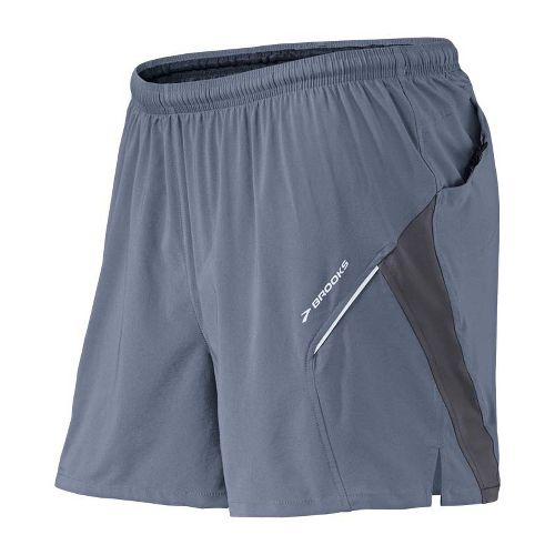 Mens Brooks Sherpa 4.5 inch 2-in-1 Shorts - Flint/Anthracite S