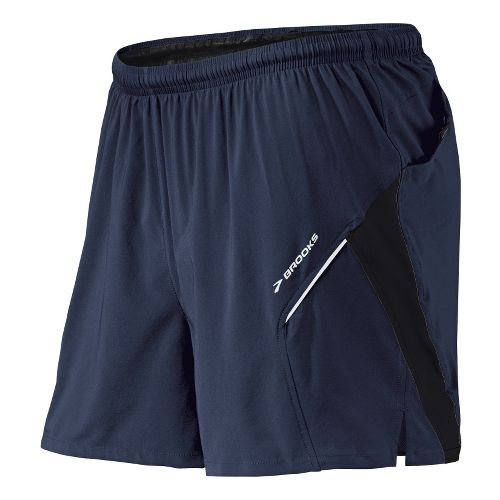 Mens Brooks Sherpa 4.5 inch 2-in-1 Shorts - Midnight/Black XL