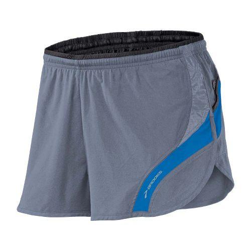 Mens Brooks Infiniti III Splits Shorts - Flint/Skydiver L