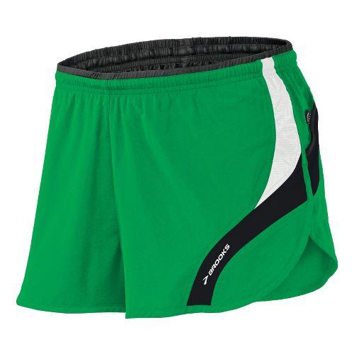 Mens Brooks Infiniti III Splits Shorts - Fern/White L