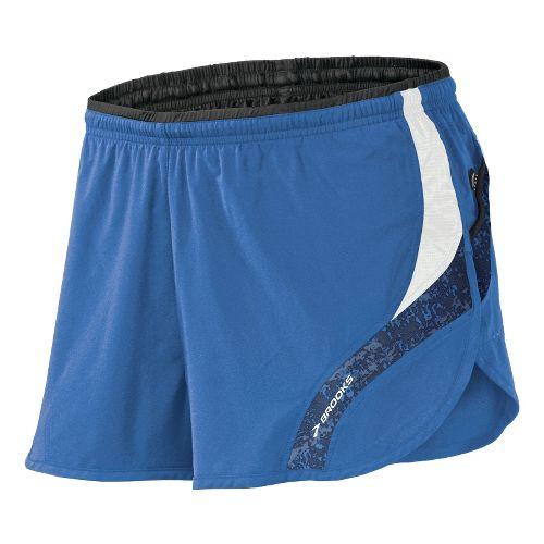 Mens Brooks Infiniti III Splits Shorts - Galaxy/White M