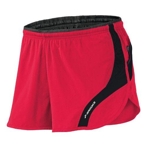 Mens Brooks Infiniti III Splits Shorts - Plasma/Black M