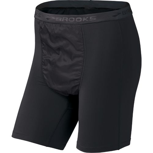 Mens Brooks Thermal Wind Boxer Boxer Brief Underwear Bottoms - Black M