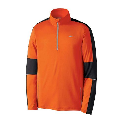 Mens Brooks Nightlife Essential Run Long Sleeve 1/2 Zip Technical Tops - Brite ...