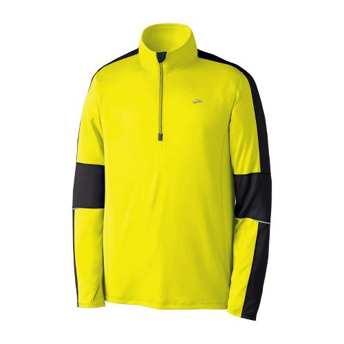 Mens Brooks Nightlife Essential Run Long Sleeve 1/2 Zip Technical Tops - Nightlife XXL