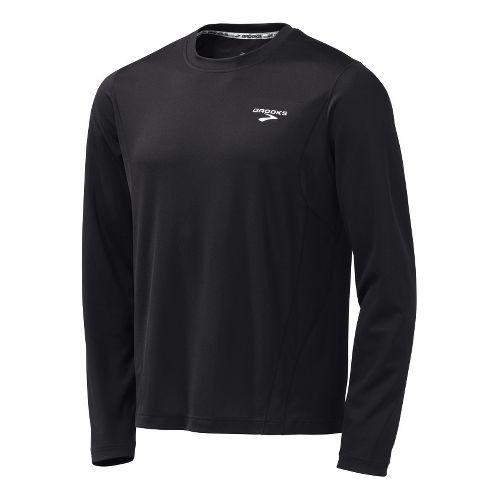 Mens Brooks Versatile Short Sleeve Technical Tops - Black L