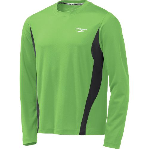 Mens Brooks Versatile Short Sleeve Technical Tops - Brite Green M