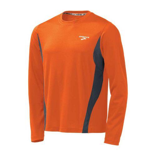 Mens Brooks Versatile Short Sleeve Technical Tops - Brite Orange/Anthracite L