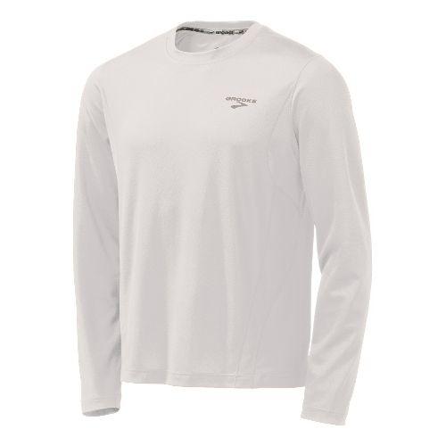 Mens Brooks Versatile Short Sleeve Technical Tops - White S