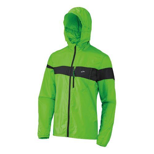 Mens Brooks Nightlife LSD Lite III Running Jackets - Brite Green M