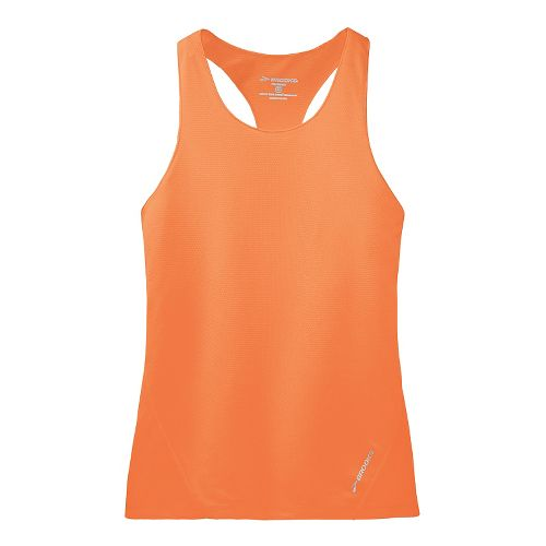 Womens Brooks Race Day Singlets Technical Top - Creamsicle XL