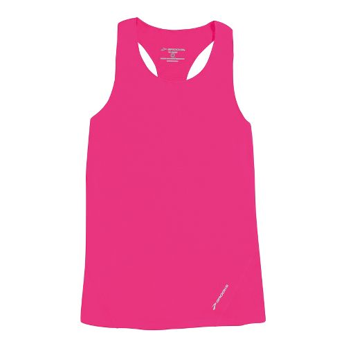 Womens Brooks Race Day Singlets Technical Tops - Brite Pink XS