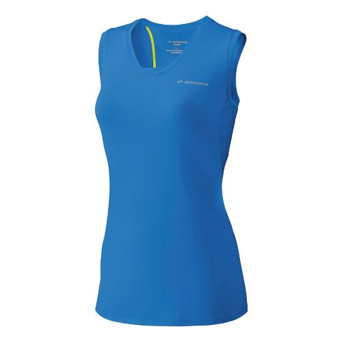 Womens Brooks Equilibrium Racerback II Sleeveless Technical Tops - Neptune XS