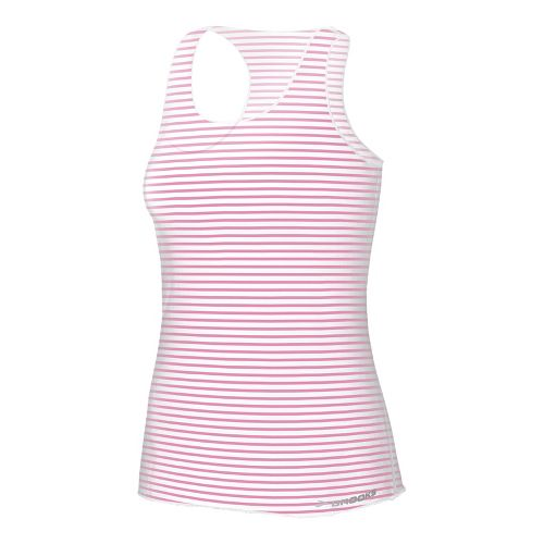Womens Brooks D'lite Micro Mesh Racerback Tanks Technical Tops - Brite Pink Stripe Print L ...
