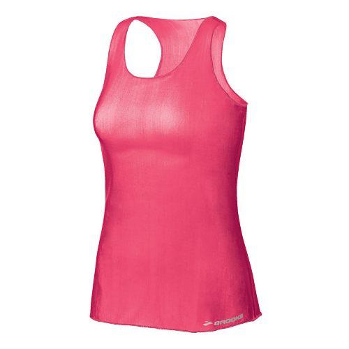 Womens Brooks D'lite Micro Mesh Racerback Tanks Technical Tops - Brite Pink S