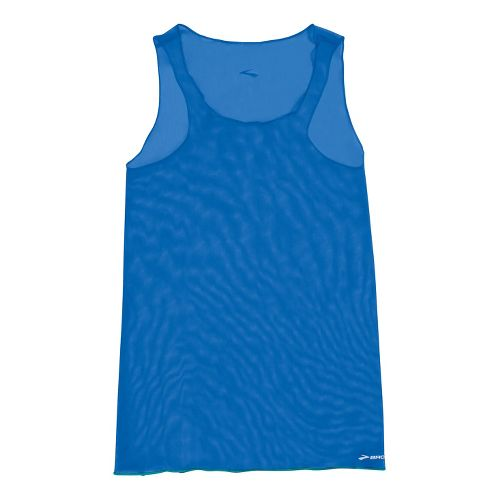 Womens Brooks D'lite Micro Mesh Racerback Tanks Technical Tops - Electric S