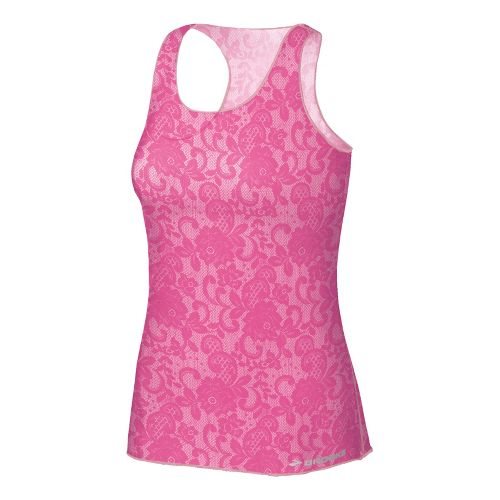 Womens Brooks D'lite Micro Mesh Racerback Tanks Technical Tops - Petal Lace Print S