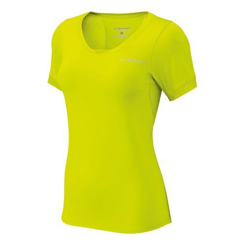Womens Brooks Equilibrium II Short Sleeve Technical Tops - Nightlife S