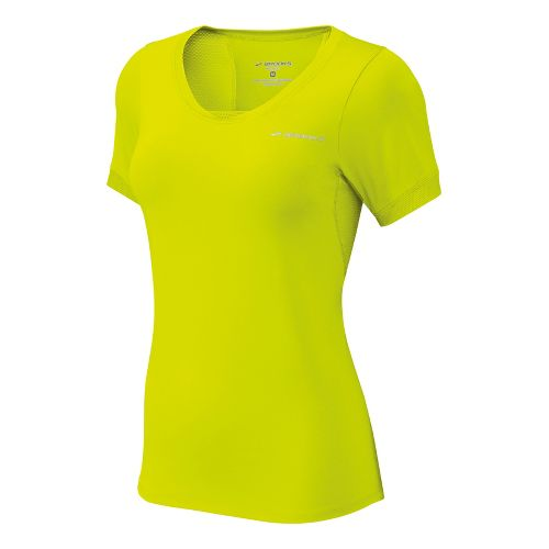 Womens Brooks Equilibrium II Short Sleeve Technical Tops - Nightlife XL