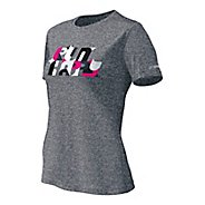 Womens Brooks EZ T II Bold Run Happy Short Sleeve Technical Tops