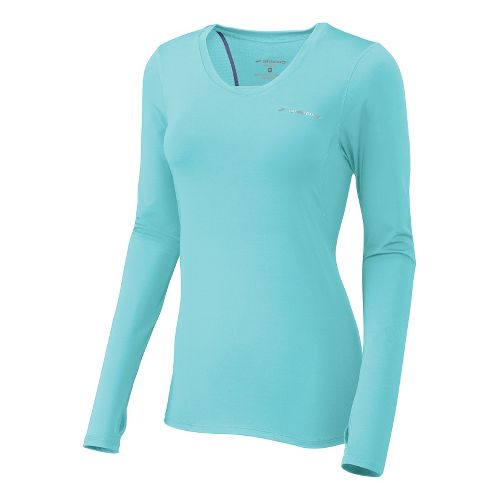 Womens Brooks Equilibrium II Long Sleeve No Zip Technical Tops - Helium L