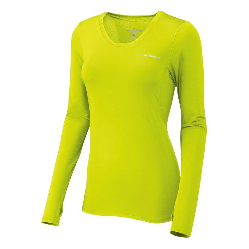 Womens Brooks Equilibrium II Long Sleeve No Zip Technical Tops - Nightlife M