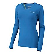 Womens Brooks Equilibrium II Long Sleeve No Zip Technical Tops