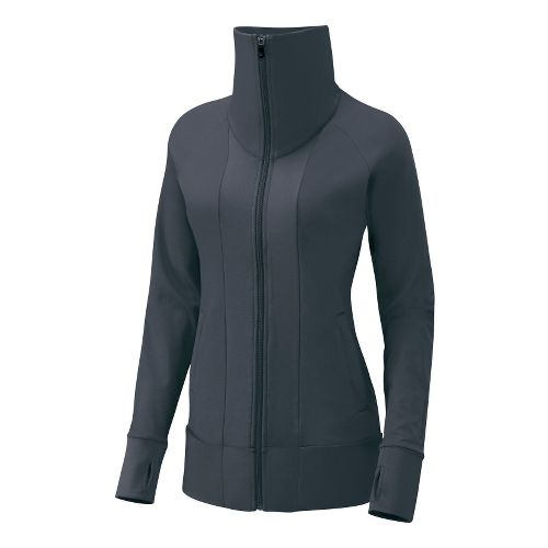 Womens Brooks Glycerin Jacket II Running Jackets - Anthracite S