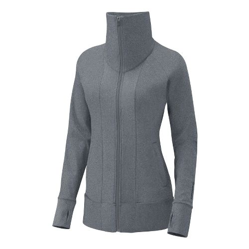 Womens Brooks Glycerin Jacket II Running Jackets - Heather Grey S