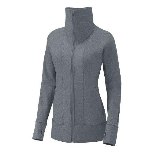 Womens Brooks Glycerin Jacket II Running Jackets - Heather Grey XL