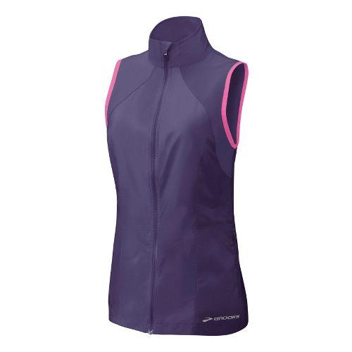Womens Brooks LSD Lite Vest Running Vests - Eggplant/Brite Pink L