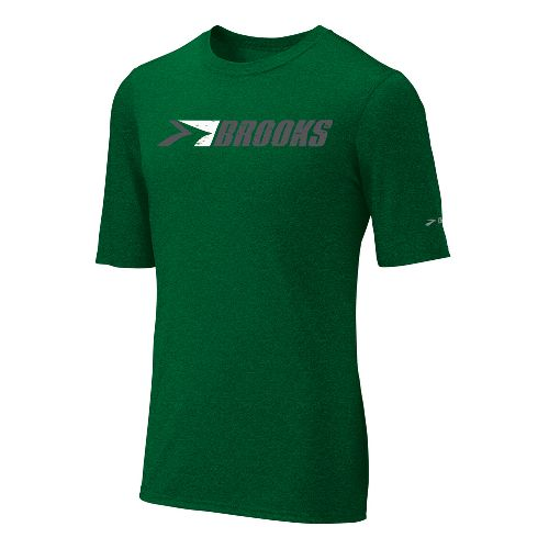 Mens Brooks EZ T III Retro Brooks Short Sleeve Technical Tops - Envy XL