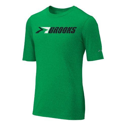 Mens Brooks EZ T III Retro Brooks Short Sleeve Technical Tops - Fern XXL