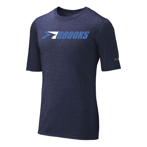 Mens Brooks EZ T III Retro Brooks Short Sleeve Technical Tops - Midnight S